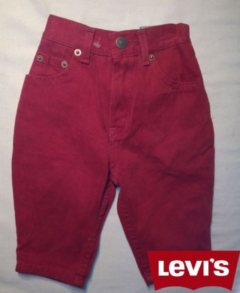 Boys Levis Jeans -Oreg/Maroon/Dark Red(Not a Boys Suit Or a Girls Dress)